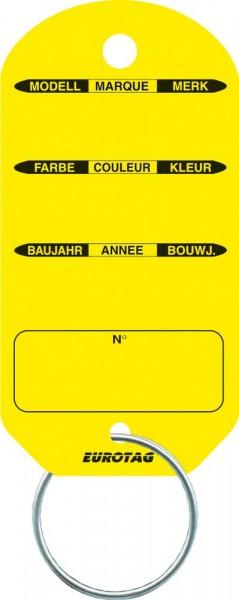 EUROTAG Schlüssel-Etiketten GELB