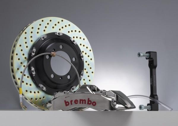 BREMBO GT-R Kit für Vorderachse, Sattel vernickelt