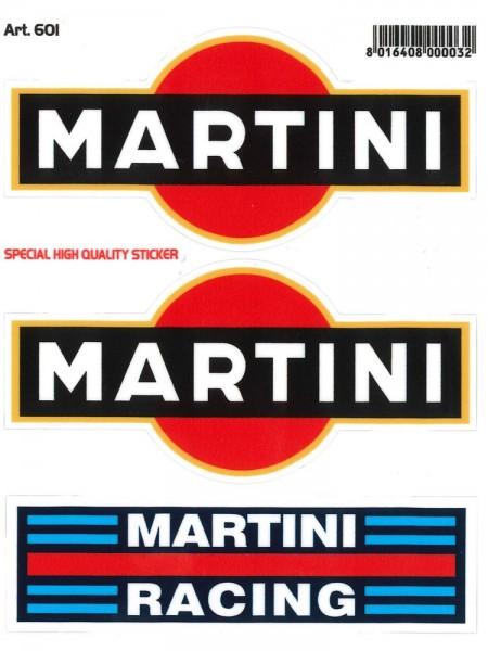 MARTINI RACING + Martini Aufkleber 3teilig