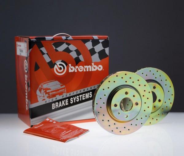 BREMBO Sport Bremsscheiben gelocht (VA) N.M.L.
