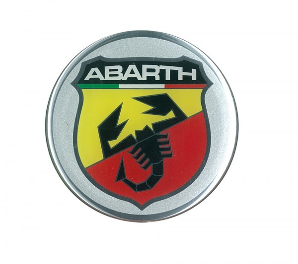 STICKER 3D Abarth Wappe Logo rund 75mm