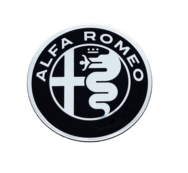 STICKER 3D Alfa Romeo Logo rund 75mm