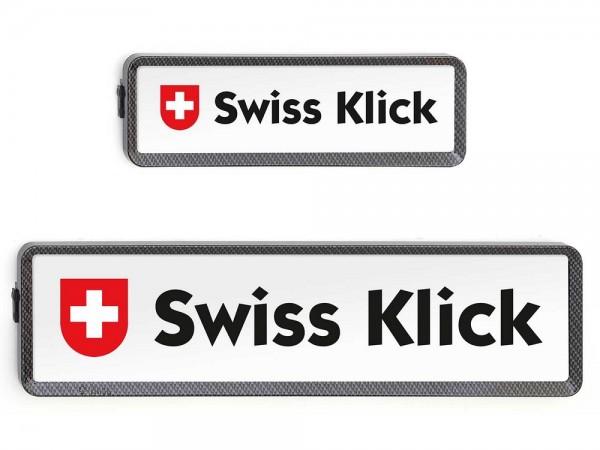 SWISS KLICK Nummernrahmen Langformat SET