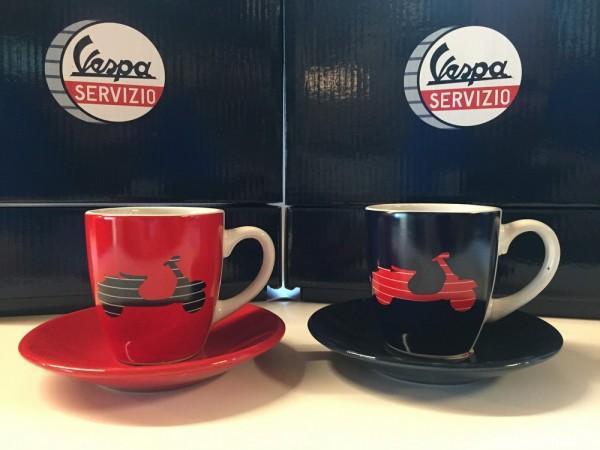 VESPA Merchandising Espresso 2er Set aus Porzellan